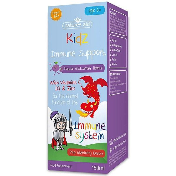Nature's Aid  Kids Immune  Support black currant Flavour 50ml