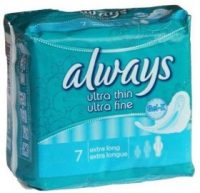 Always Ultra Thin  Super With Wings 7S