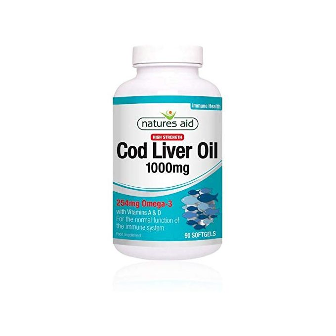 Natures Aid  Cod Liver Oil 1000mg  Soft Gels  90s