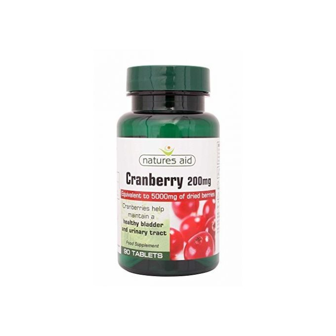 Natures Aid  Cranberry 200mg Tabs 90s