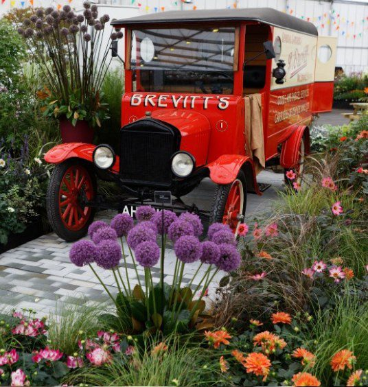 Floral marquee display at BBC Gardeners' World Live 2021