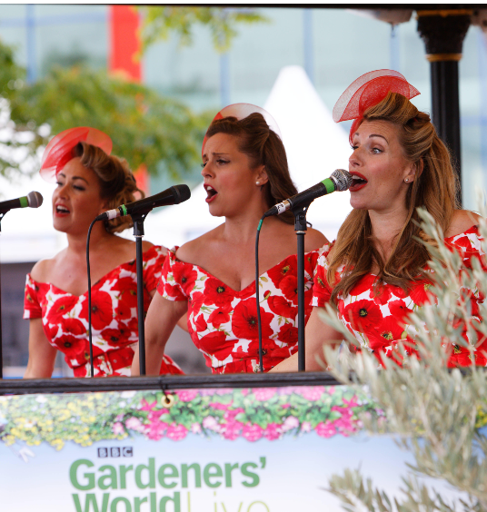 The Polka Dots on the Bandstand at BBC Gardeners' World Live